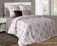 """Двуспальный постельный комплект """"Чайная роза"""". Бязь люкс."""