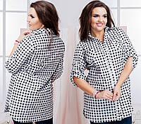 Женская модная рубашка батал 46-58, фото 1