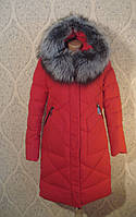 Полу-пальто зимнее Venissa 18234  красный