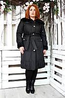 Модный женский плащ Вельбо черный (48-52)