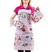 Кухонный набор, фартук,перчатка Premium Paris