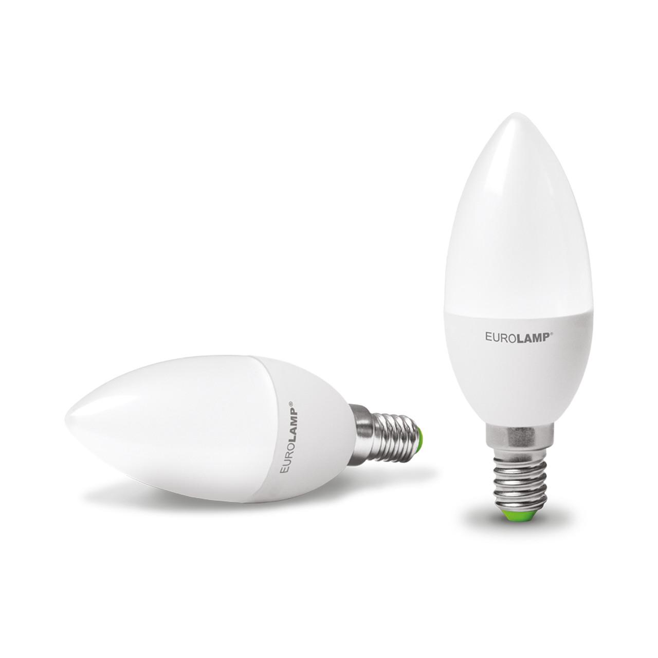 EUROLAMP LED Лампа ЕКО Свеча 6W E14 4000K
