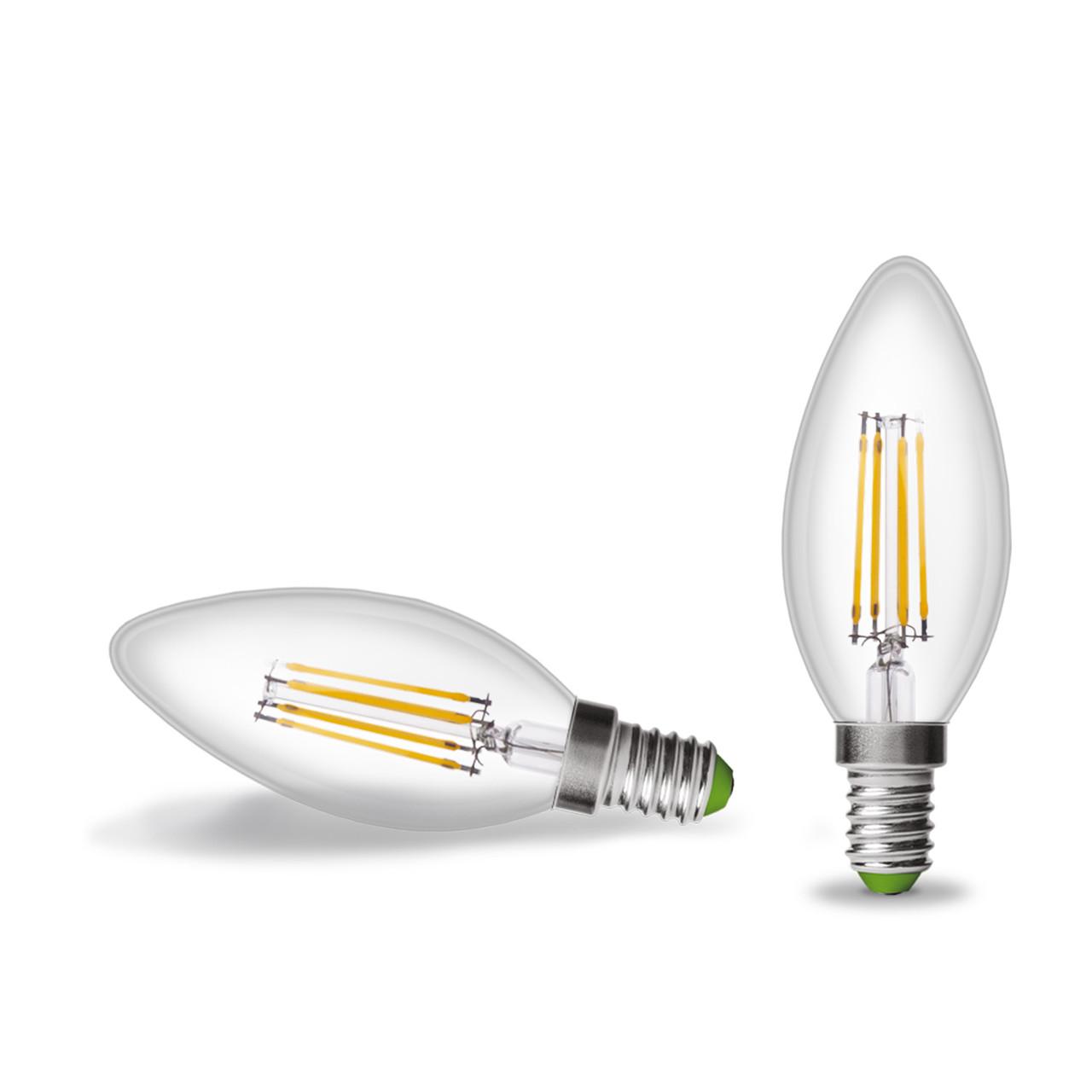 EUROLAMP LED Лампа Свеча ArtDeco 4W E14 2700K (прозрачная)