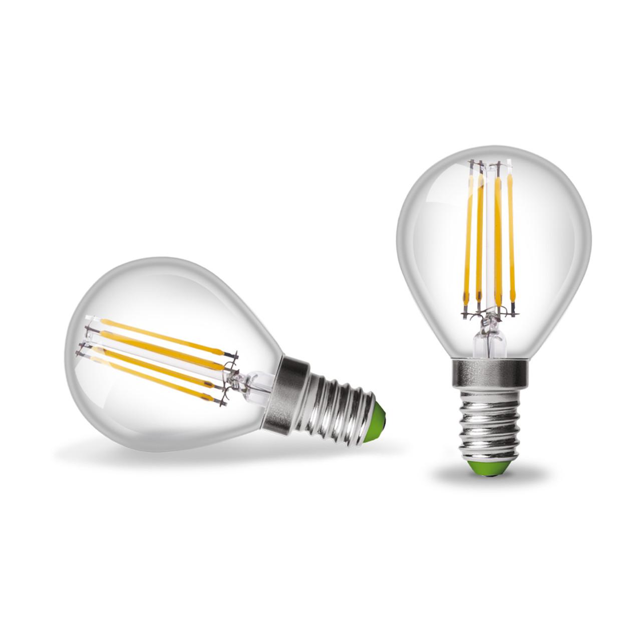 EUROLAMP LED Лампа Шар ArtDeco 4W E14 4000K (прозрачная)