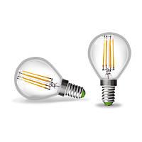 EUROLAMP LED Лампа Шар ArtDeco 4W E14 4000K (прозрачная), фото 1