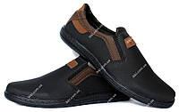 40 и 43 р Мужские туфли - мокасины на резинку Львовской фабрики (СКЛ-8чк)