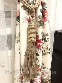 Кисти подхваты для штор цвет коричневый 65 см ручная работа .