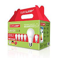 """Промо-набір EUROLAMP LED Лампа A60 8W E27 3000K акція """"6в1"""", фото 1"""