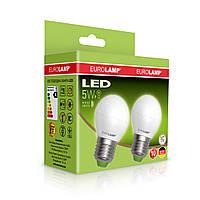 """Промо-набор EUROLAMP LED Лампа ЕКО G45 5W E27 3000K акция """"1+1"""", фото 1"""