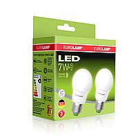 """Промо-набор EUROLAMP LED Лампа A50 7W E27 4000K акция """"1+1"""", фото 1"""