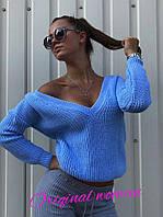 Женский стильный вязаный свитер (расцветки), фото 1