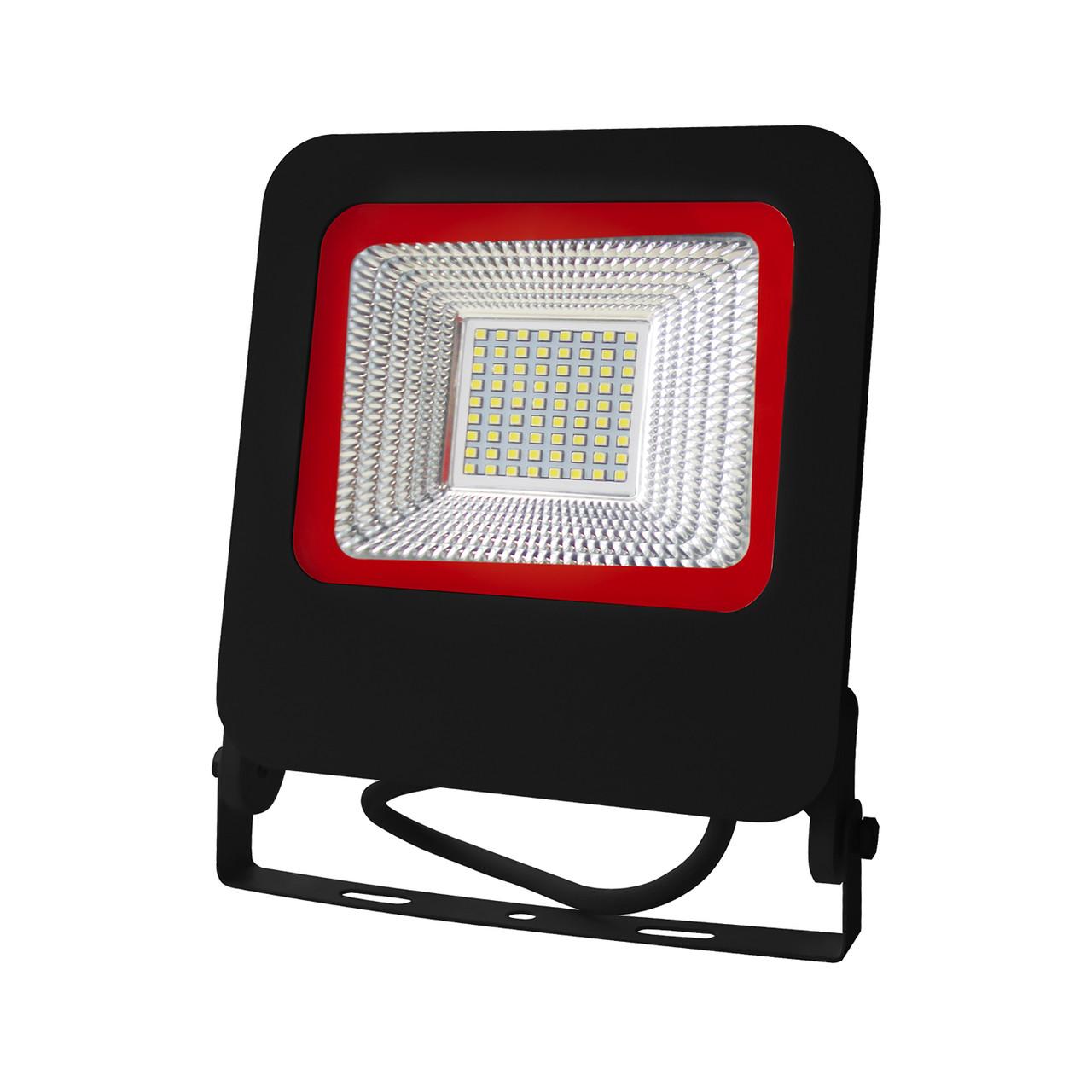 EUROELECTRIC LED SMD Прожектор  черный с радиатором NEW  50W 6500K, фото 1