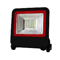 EUROELECTRIC LED SMD Прожектор  черный с радиатором NEW 30W 6500K, фото 1