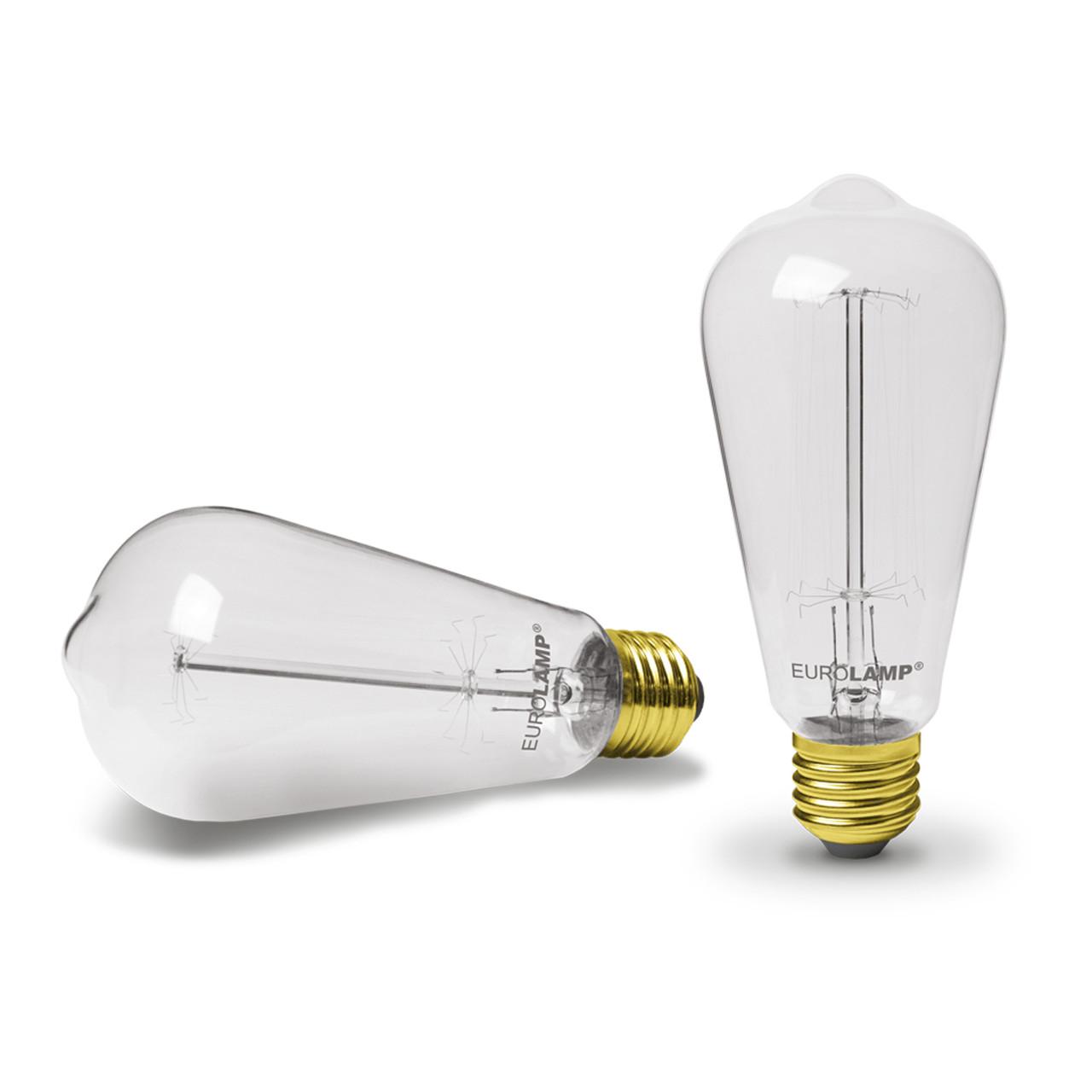 EUROLAMP Лампа ЛОН Капля ArtDeco ST64 60W E27 2700K dimmable
