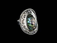 Большое женское кольцо с перламутром