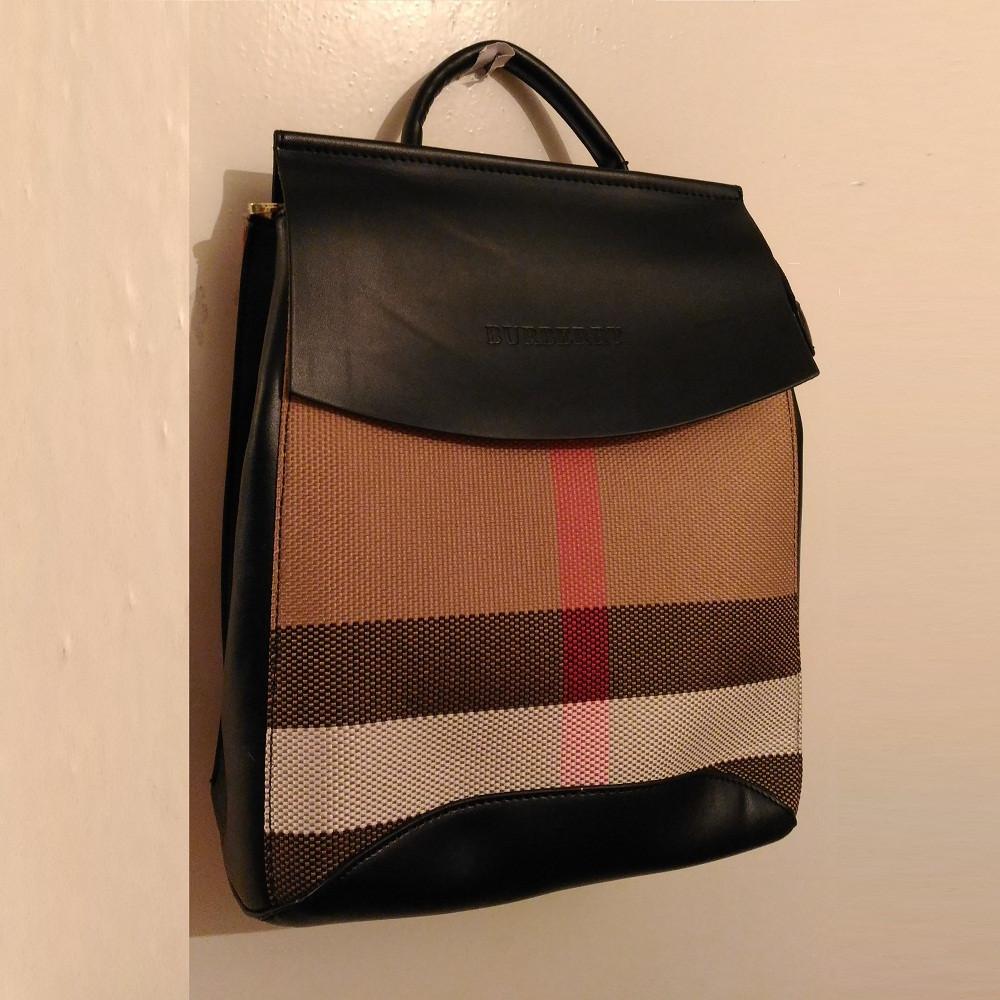 2b14a5093827 Рюкзак-сумка молодежный для школы и города Burberry GS105 черный Копия