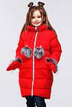 Детский пуховик для девочки Мелитта колпак рост 116, 122, Распродажа Nui very, фото 4