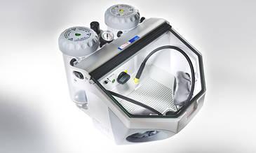 Basic eco 25-70µ/70-250µ 230 В пескоструйный аппарат на два бачка