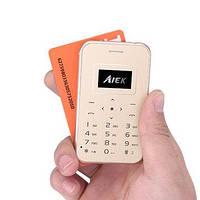 Телефон кредитная карта AIEK X8 ультра тонкий мобильный