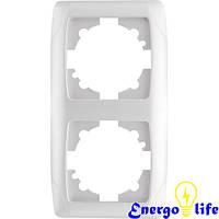 Рамка VIKO Carmen вертикальная двойная белая, 90571002