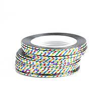 Клейкие ленты для ногтей, маникюра, 1 мм (разноцветные)