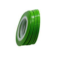 Клейкие ленты для ногтей, маникюра, 1 мм (зеленые матовые)