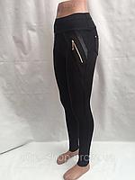 Лосины женские эластик +  кожзам, размеры S М L XL, №581, фото 1