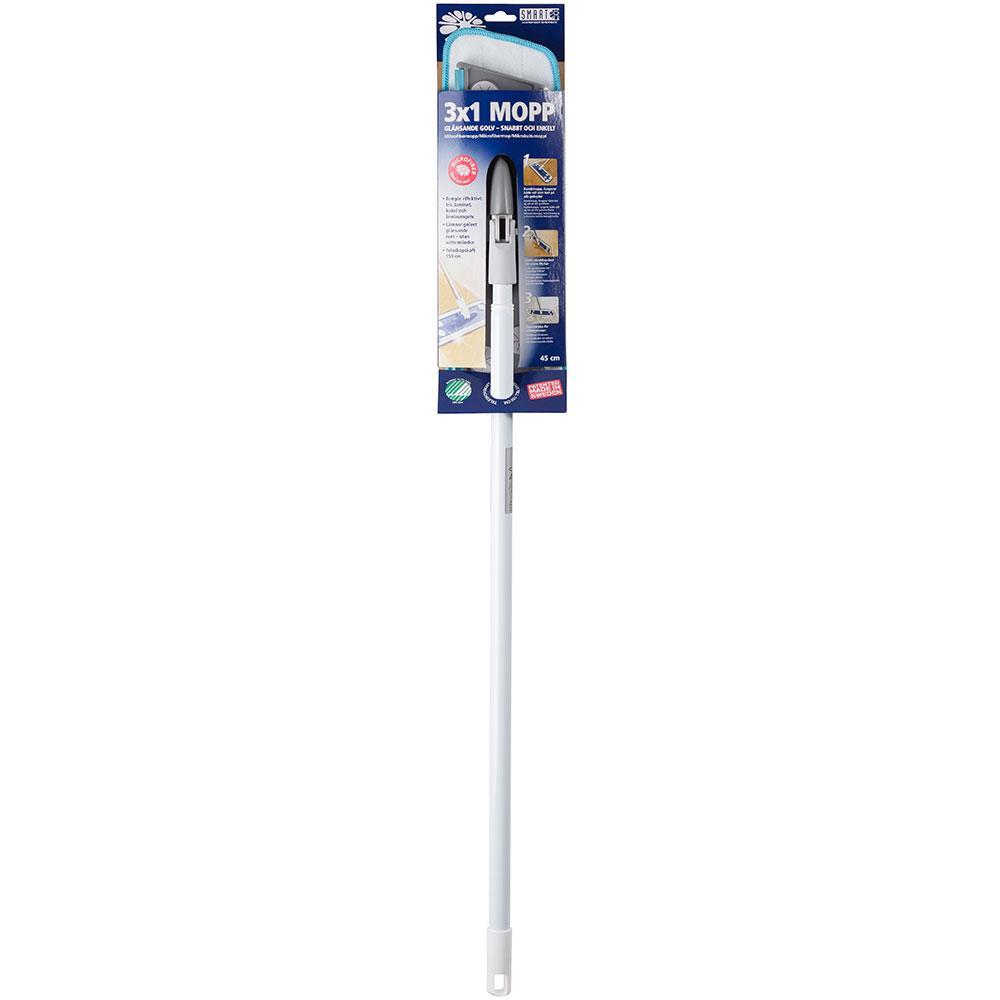 """Швабра для миття підлоги, вікон і ламінату """"3 в 1 SMART Microfiber System"""" з насадкою з мікрофібри для будинку"""
