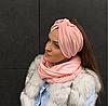 Персиковый шарф снуд