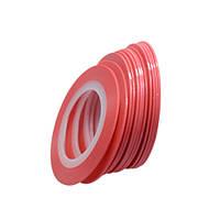 Клейкие ленты для ногтей, маникюра, 1 мм (розовые матовые)