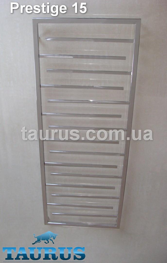 Высокий, большой полотенцесушитель комбинированный (вода + ТЭН), лесенка Prestige 15/1650х400