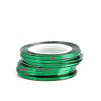 Клейкие ленты для ногтей, маникюра, 1 мм (темно-зеленые)