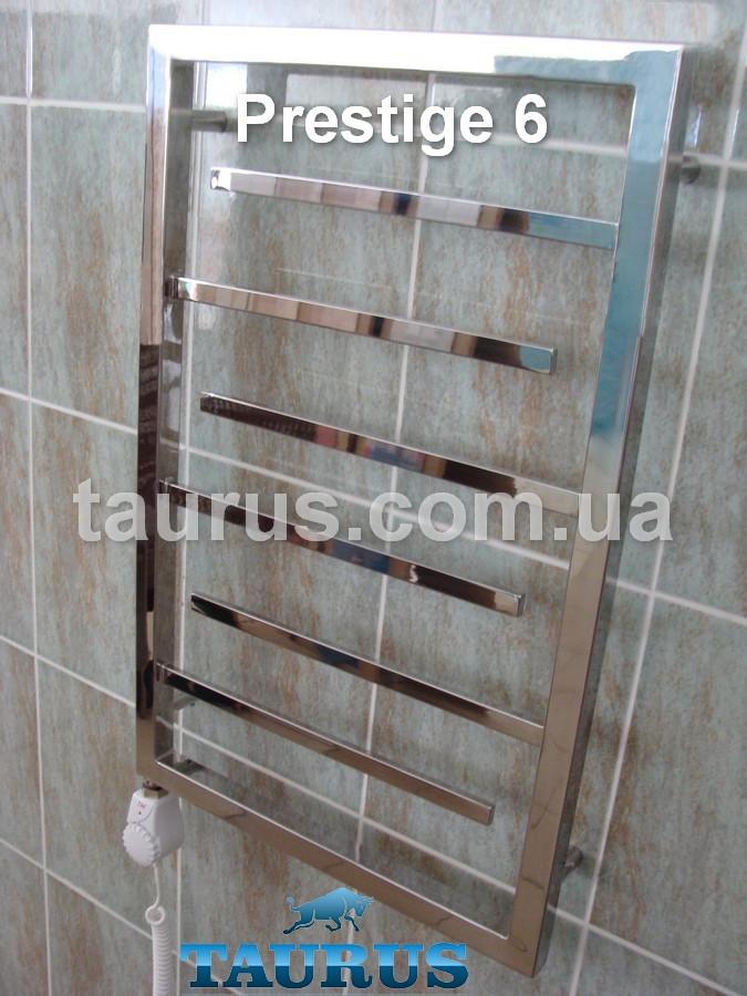 Отечественный узкий полотенцесушитель из нержавейки Prestige 6 /750х400. Украина, Смела. TAURUS