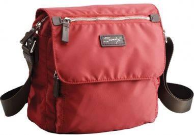 Городская, повседневная сумка через плечо Sumdex NOA-709 красная, сиреневая