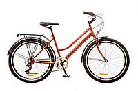 """Городской женский велосипед 26"""" DISCOVERY PRESTIGE WOMAN 2017 (коричнево-оранжевый)"""