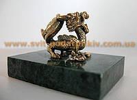 Оригинальный сувенир, бронзовая фигурка Дракон
