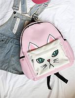 Пудровый рюкзак Котик