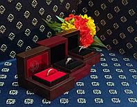 Шкатулка под кольцо деревянная  черная