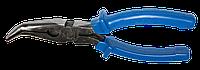 Щипці подовжені вигнуті 180мм Housetools 32K125 Робоча частина підготовлена зі сталі (45-55 HRC).