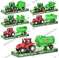 Трактор с прицепом 4018-40, 6 видов, игрушечный трактор