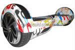 """Гироборд Smart Balance Wheel 6.5"""" (Тао-Тао, Самобаланс) Граффити Белый"""
