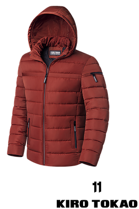 Мужская оранжевая зимняя куртка (р. 48-56) арт. 8812К, фото 2