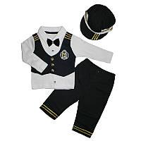 Костюм для мальчика74-86 шапка+кофта+штаны арт.2645