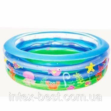Надувной бассейн Bestway (51029) круглый 196-53 см, фото 2