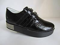 Лаковые супер туфли на платформе 31-33 р