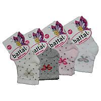 """Носочки для девочек 0 """"Battal""""  кол.горох,сердечки дівчинка"""