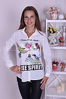 """Красивая женская рубашка """"Птичка певчая"""""""