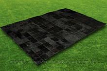 Купити килими чорного кольору, шкіряні килими