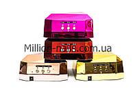 """Лампа для сушки ногтей гибридная LED+CCFL 36 Вт,  """"Хром"""", с сенсорным датчиком"""