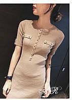 Женское облегающее платье на пуговицах (4 цвета), фото 1